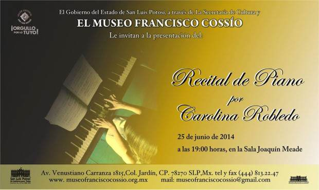 recital de piano por carolina robledo