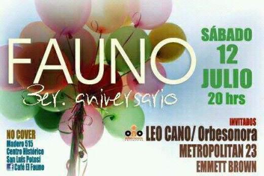 3er Aniversario Café Fauno