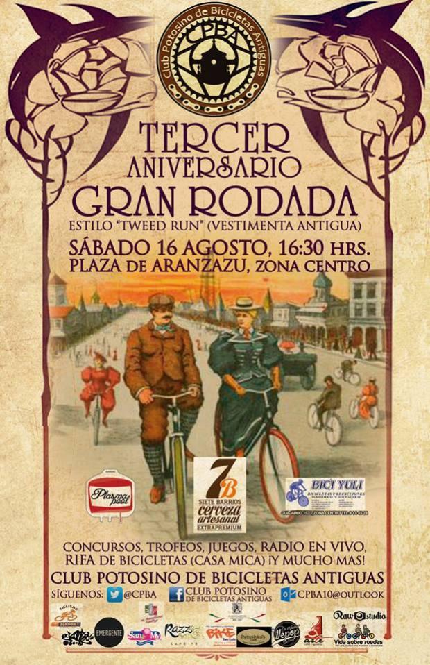 tercer aniversario club potosino bicicletas