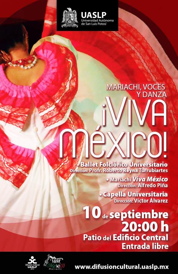 Viva México - mariachi, voces y danza @ Edificio Central de la UASLP | San Luis Potosí | San Luis Potosí | México