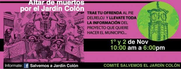 Trae tu ofrenda Jardín Colon