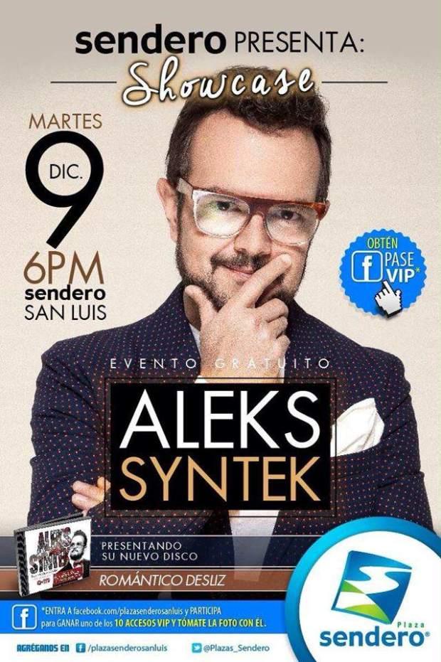 Showcase de Aleks Syntek @ Plaza Sendero | San Luis Potosí | San Luis Potosí | México