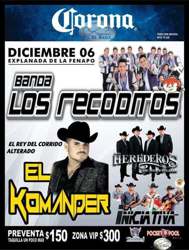 Los Recoditos / El Komander @ Explanada de la Fenapo   San Luis Potosí   San Luis Potosí   México