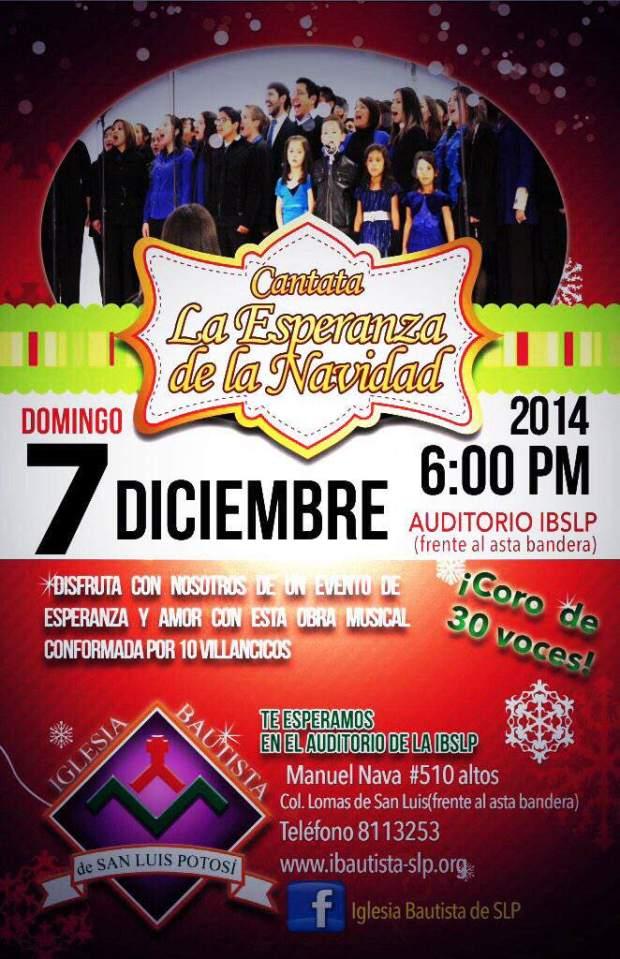 Cantata La Esperanza de la Navidad @ Auditorio Iglesia Bautista    San Luis Potosí   San Luis Potosí   México