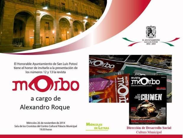 Morbo a cargo de Alexandro Roque @ Centro Cultural Palacio Municipal