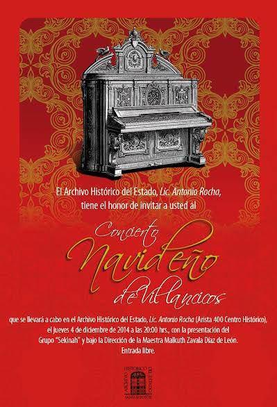Concierto navideño de villancicos @ Archivo Histórico del Estado | San Luis Potosí | San Luis Potosí | México