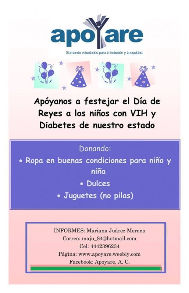 Día de Reyes niños con VIH y Diabetes