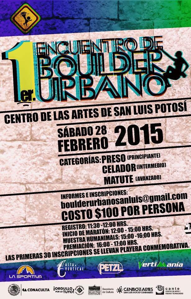 1er Encuentro de Boulder Urbano, San Luis Potosí @ Centro de las Artes de San Luis Potosí