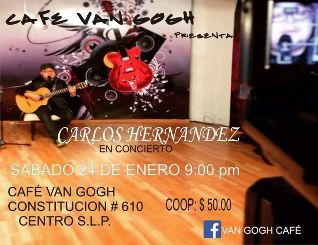 Carlos Hernández en concierto @ Café Van Gogh