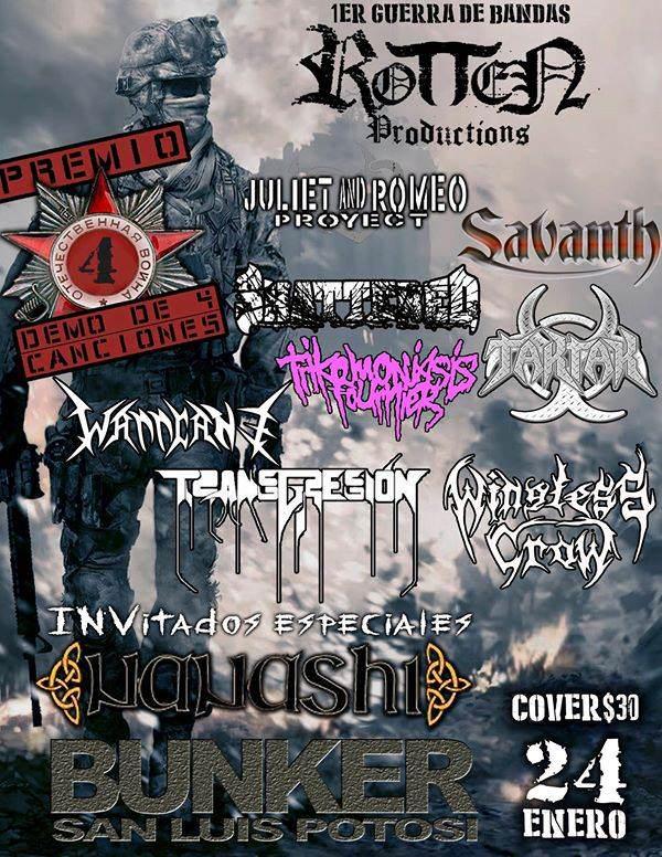 1er Guerra de bandas Rotten productions @ Steel Metal Bunker