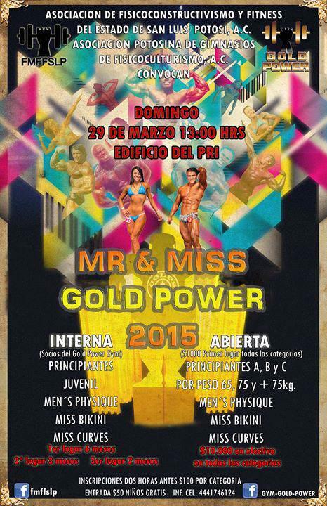 Mr y Miss Gold Power @ Edificio del PRI | San Luis Potosí | San Luis Potosí | México