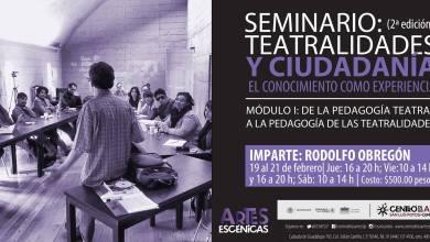Photo of Rodolfo Obregón impartirá taller en el Centro de las Artes