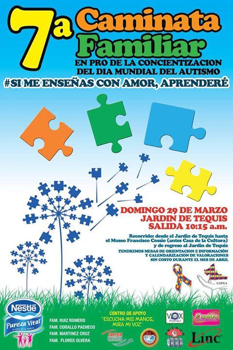 7a Caminata Familiar en Pro de la concientización del Día Mundial del Autismo @ Jardín Tequisquiapan | San Luis Potosí | San Luis Potosí | México