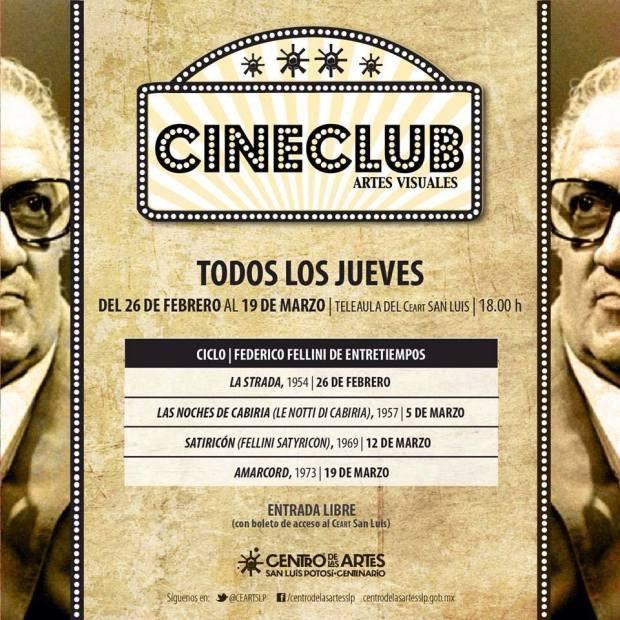 Cine Club : Ciclo Federico Fellini de entretiempos @ Centro de las Artes de San Luis Potosí