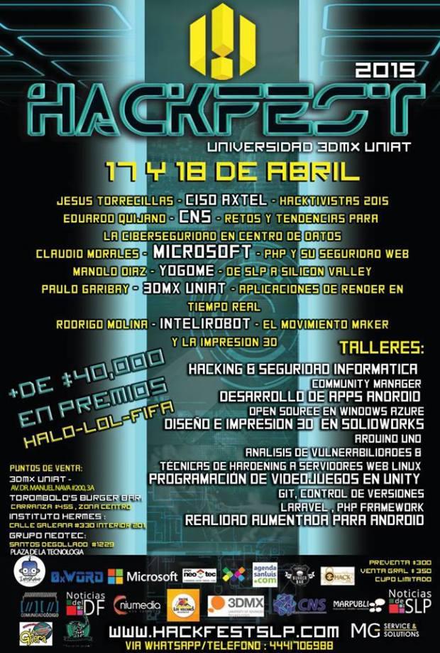 HackerFest 2015 @ DMX UNIAT | San Luis Potosí | San Luis Potosí | México