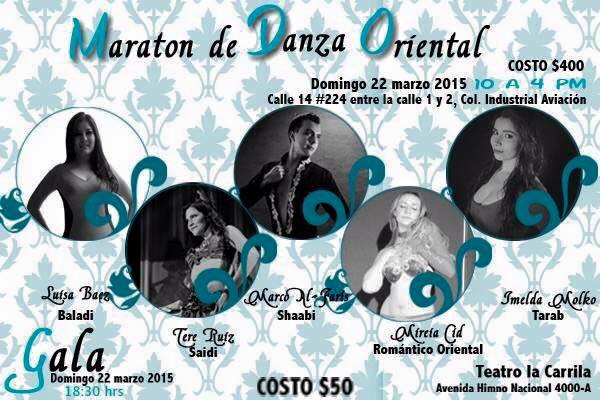 Maratón de Danza Oriental @ Teatro La Carrilla