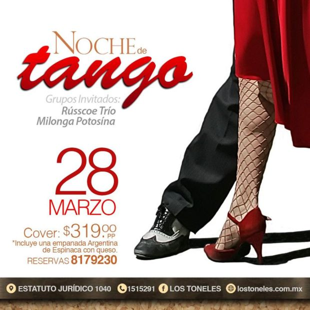 Noche de Tango con Rúsco Trío y Milonga Potosina @ Los Toeneles | San Luis Potosí | San Luis Potosí | México