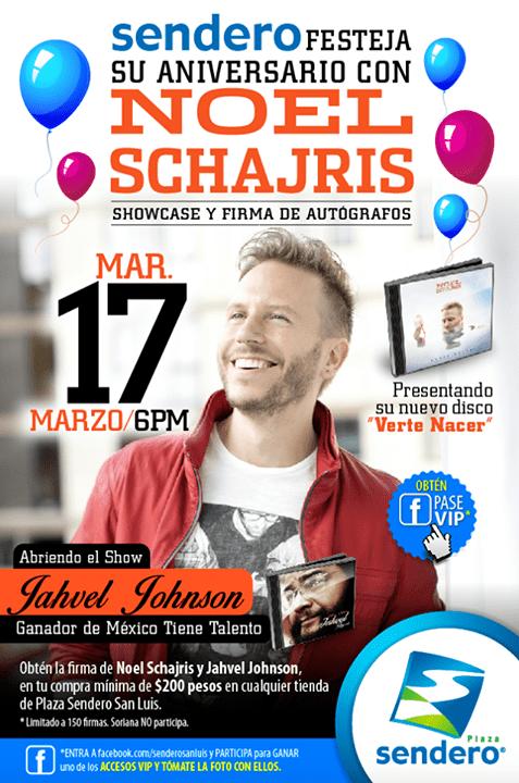 Showcase de Noel Shchajris @ Plaza Sendero | San Luis Potosí | San Luis Potosí | México