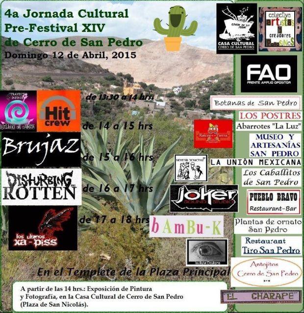 4a Jornada Cultural Pre-Festival XIV de Cerro de San Pedro @ Cerro de San Pedro | Cerro de San Pedro | San Luis Potosí | México