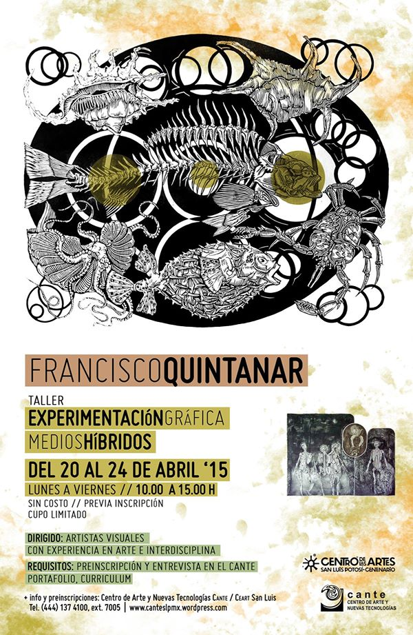 Taller Gráfica Experimental con Francisco Quintanar @ Centro de las Artes de San Luis Potosí