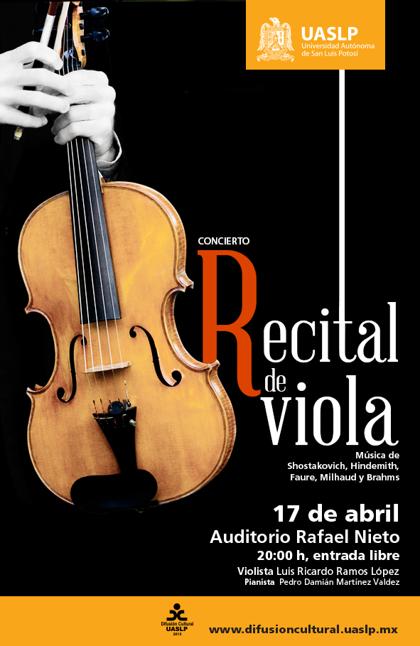 Recital de Viola @ Auditorio Rafael Nieto