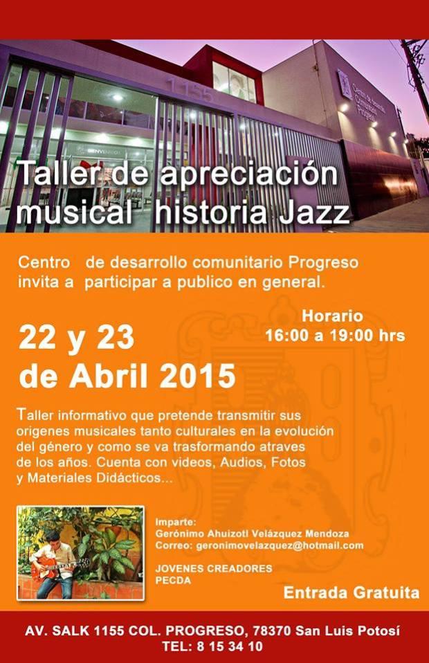 Taller de apreciación musical jazz @ Centro de desarrollo comunitario Progreso