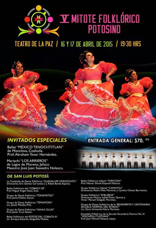 V Mitote Folklórico Potosino @ Teatro de la Paz
