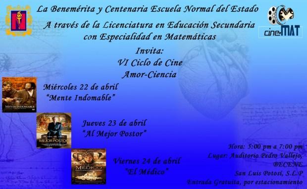 cartel CINE-MAT 1