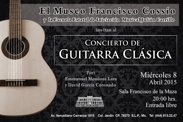 Concierto de Guitarra Clásica en el Museo Francisco Cossío @ Museo Francisco Cossío