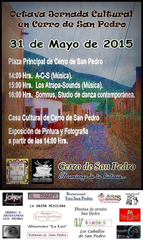 Octava Jornada Cultural en Cerro de San Pedro @ Cerro de San Pedro | Cerro de San Pedro | San Luis Potosí | México