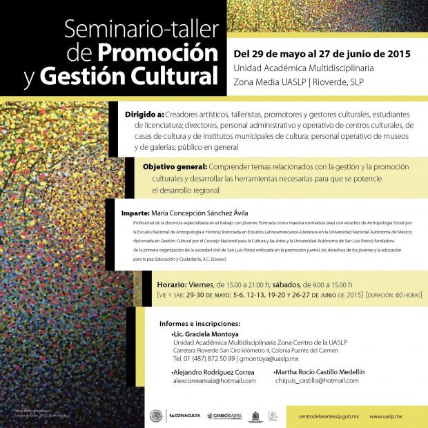 SEMINARIO GESTIOìN CULTURAL_ZONA MEDIA_CEART 2015