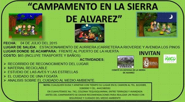 Campamento en la Sierra de Alvarez @ Sierra de Álvarez | San Luis Potosí | México