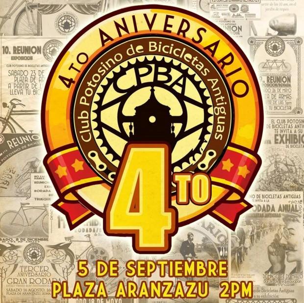 4to Aniversario del Club Potosino de Bicicletas Antiguas