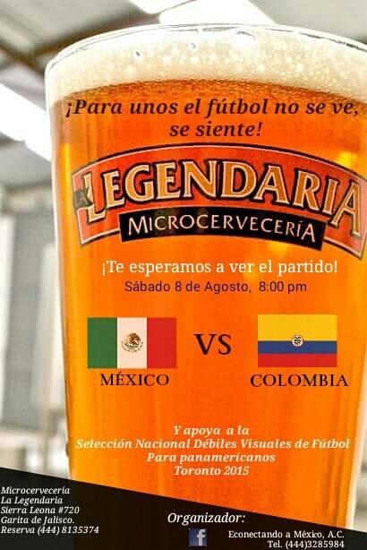 Partido Selección Mexicana de Fútbol de débiles visuales @ Cervecería La Legendaria | San Luis Potosí | San Luis Potosí | México