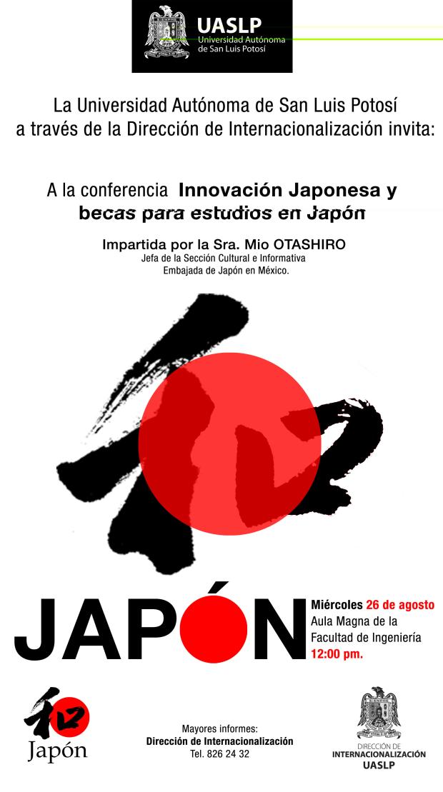 Innovación japonesa y becas para estudios en Japón @ Aula de la Facultad de Ingenieria | San Luis Potosí | San Luis Potosí | México
