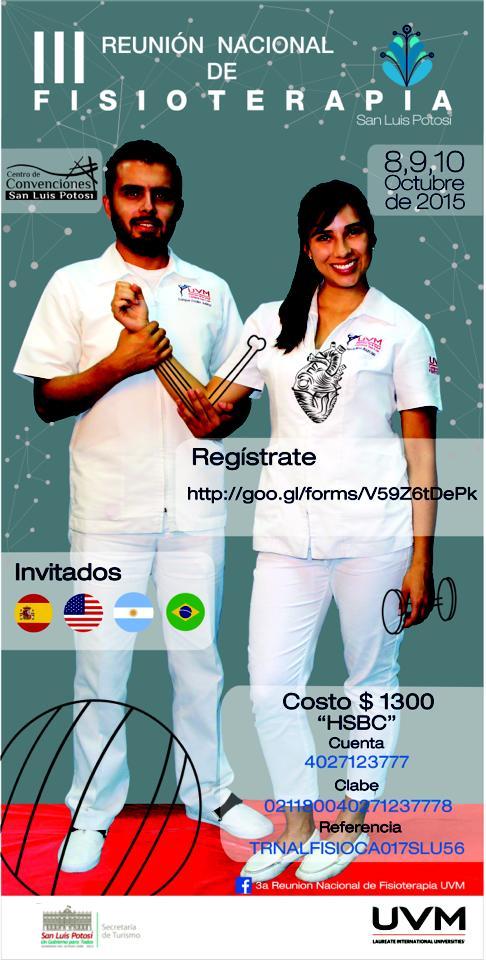 3ra Reunión Nacional de Fisioterapia @ Centro Cultural Universitario Bicentenario