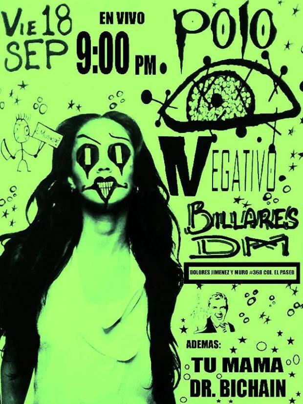 5to Aniversario de Polo Negativo @ Billares DM | San Luis Potosí | San Luis Potosí | México