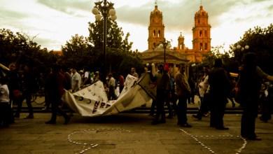 Photo of Protestan en San Luis Potosí a un año de la tragedia nacional de Ayotzinapa
