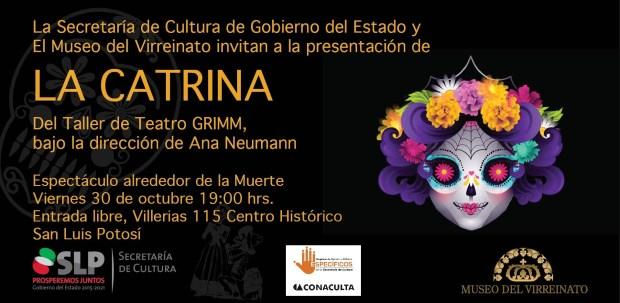 "Taller de Teatro Grimm invita a ""La Catrina"" @ Museo del Virreinato"