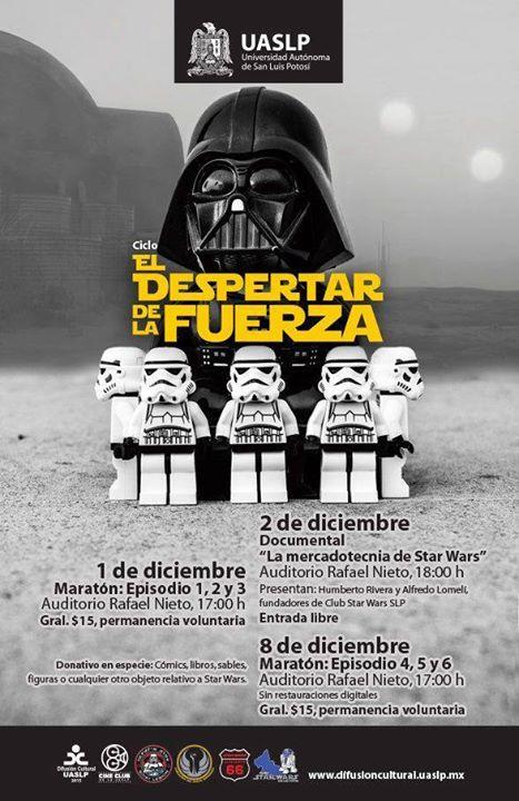 """Ciclo de Cine """"El Despertar de la Fuerza"""" @ Auditorio Rafael Nieto"""