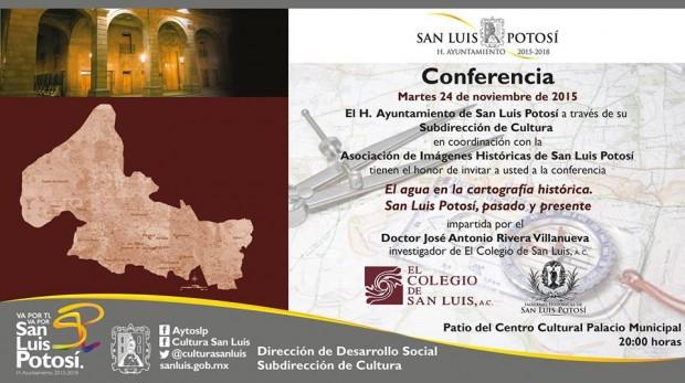 El agua en la cartografía histórica de San Luis Potosí, pasado y presente.
