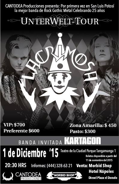 Lacrimosa en San Luis Potosí @ Teatro de la Ciudad | San Luis Potosí | San Luis Potosí | México