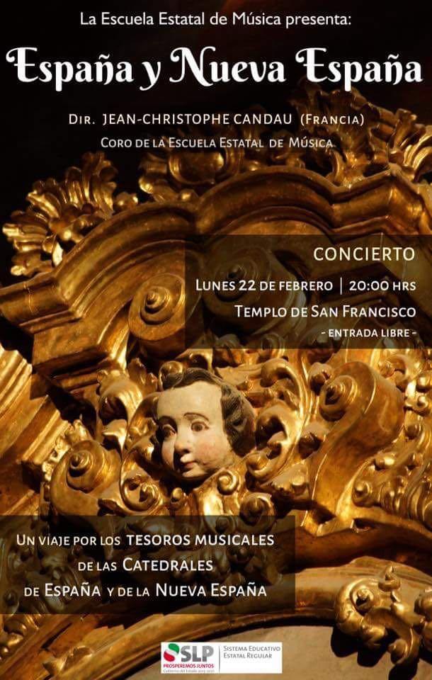 """Concierto : """"España y Nueva España"""" @ Templo de San Francisco"""