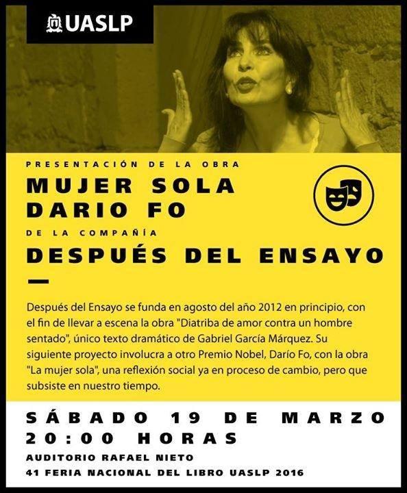 La mujer sola de Darío Fo @ Auditorio Rafael Nieto