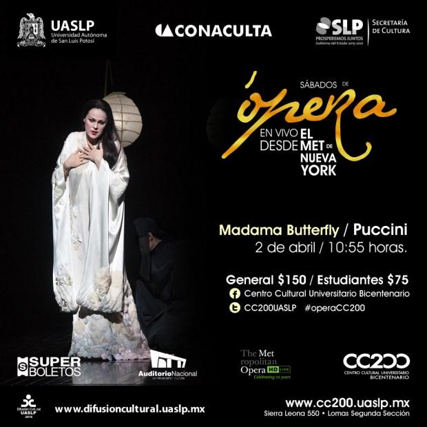 Sábados de Ópera: Madama Butterfly @ Centro Cultural Universitario Bicentenario