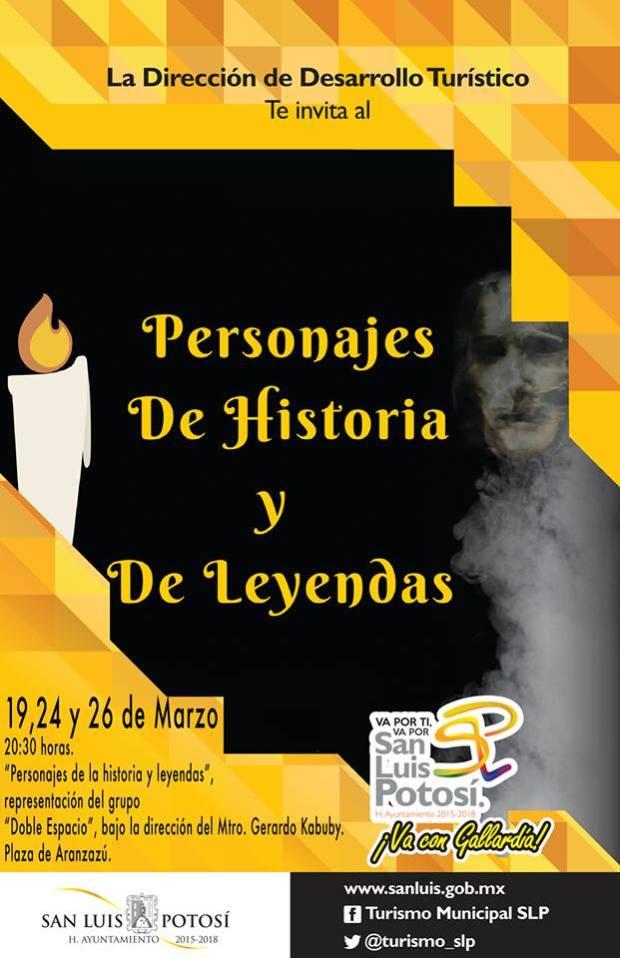 Personajes de Historia y Leyendas @ Centro Cultural Palacio Municipal