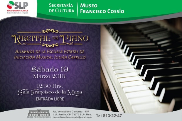Recital de Piano en el Francisco Cossío @ Museo Francisco Cossío