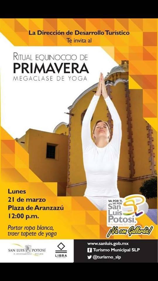 Ritual equinoccio de primavera clase de Yoga @ Plaza de Aranzazú