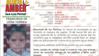 Photo of Alerta Amber en San Luis Potosí: Francisco De León Torres