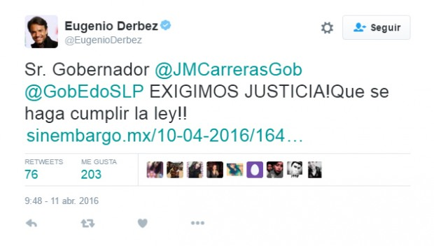 Eugenio Derbez Carreras justicia
